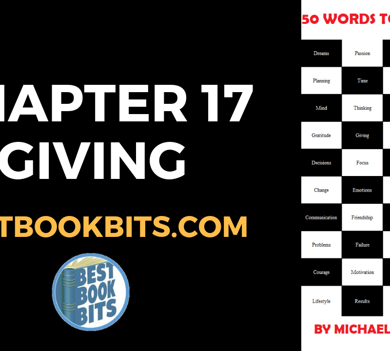 CHAPTER 17 GIVING