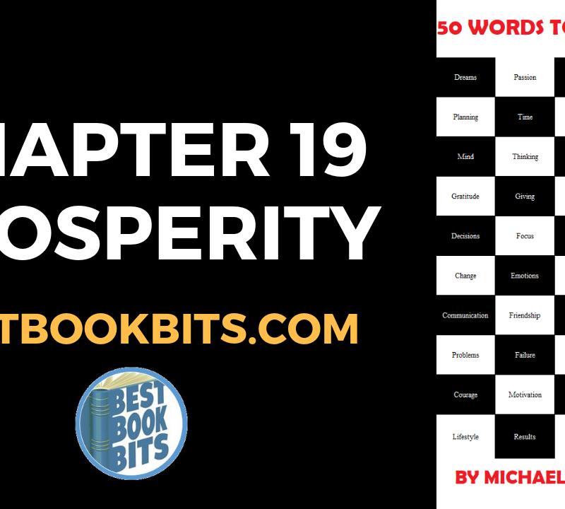 CHAPTER 19 PROSPERITY