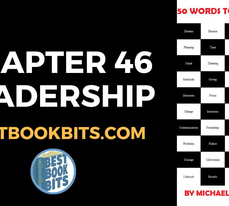 Chapter 46 Leadership