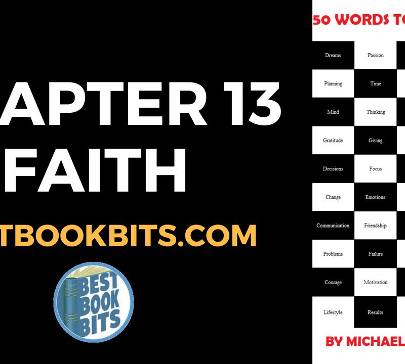 Chapter 13 Faith